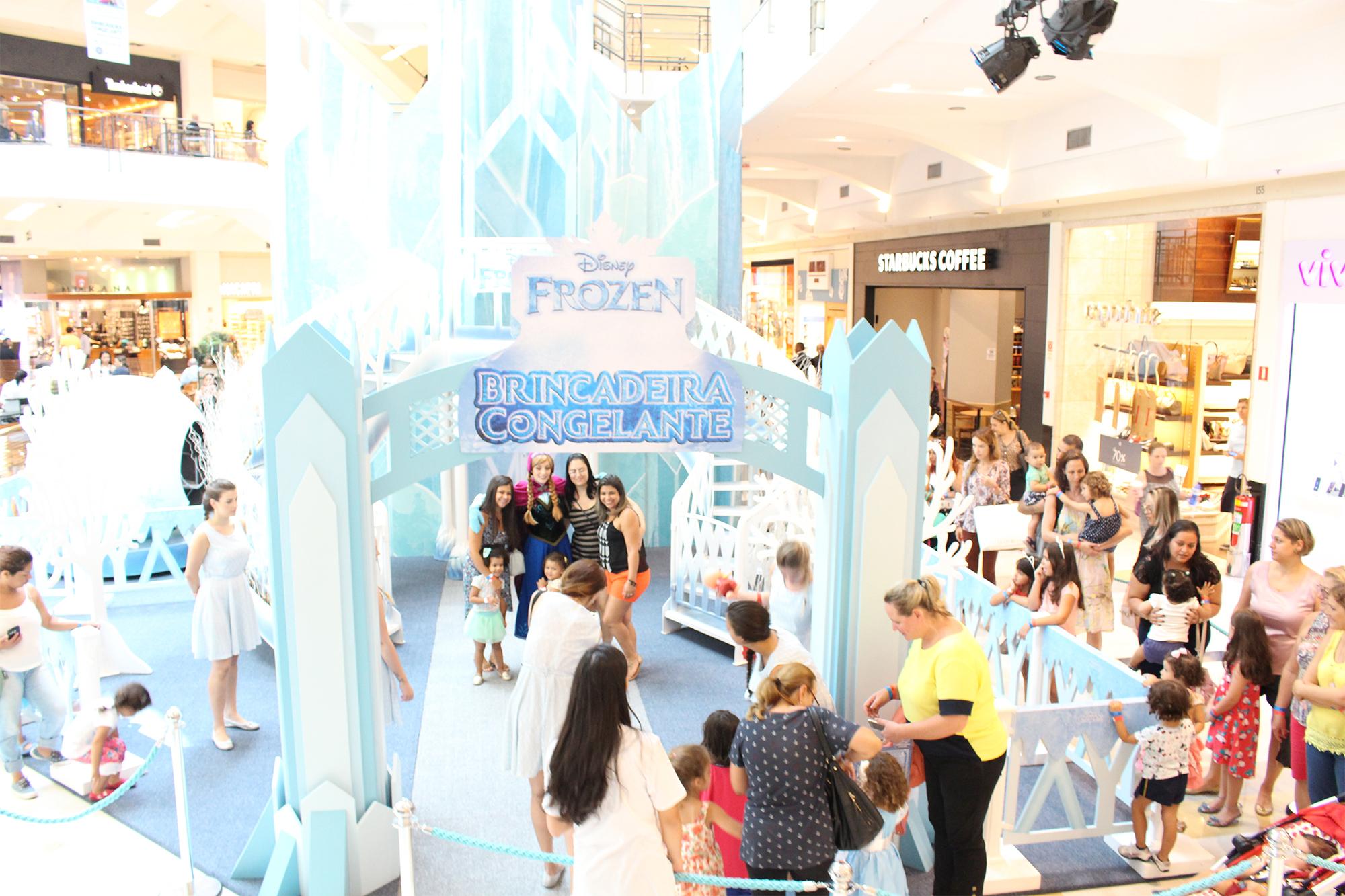 Shopping VillaLobos traz brincadeira congelante de Frozen para toda família