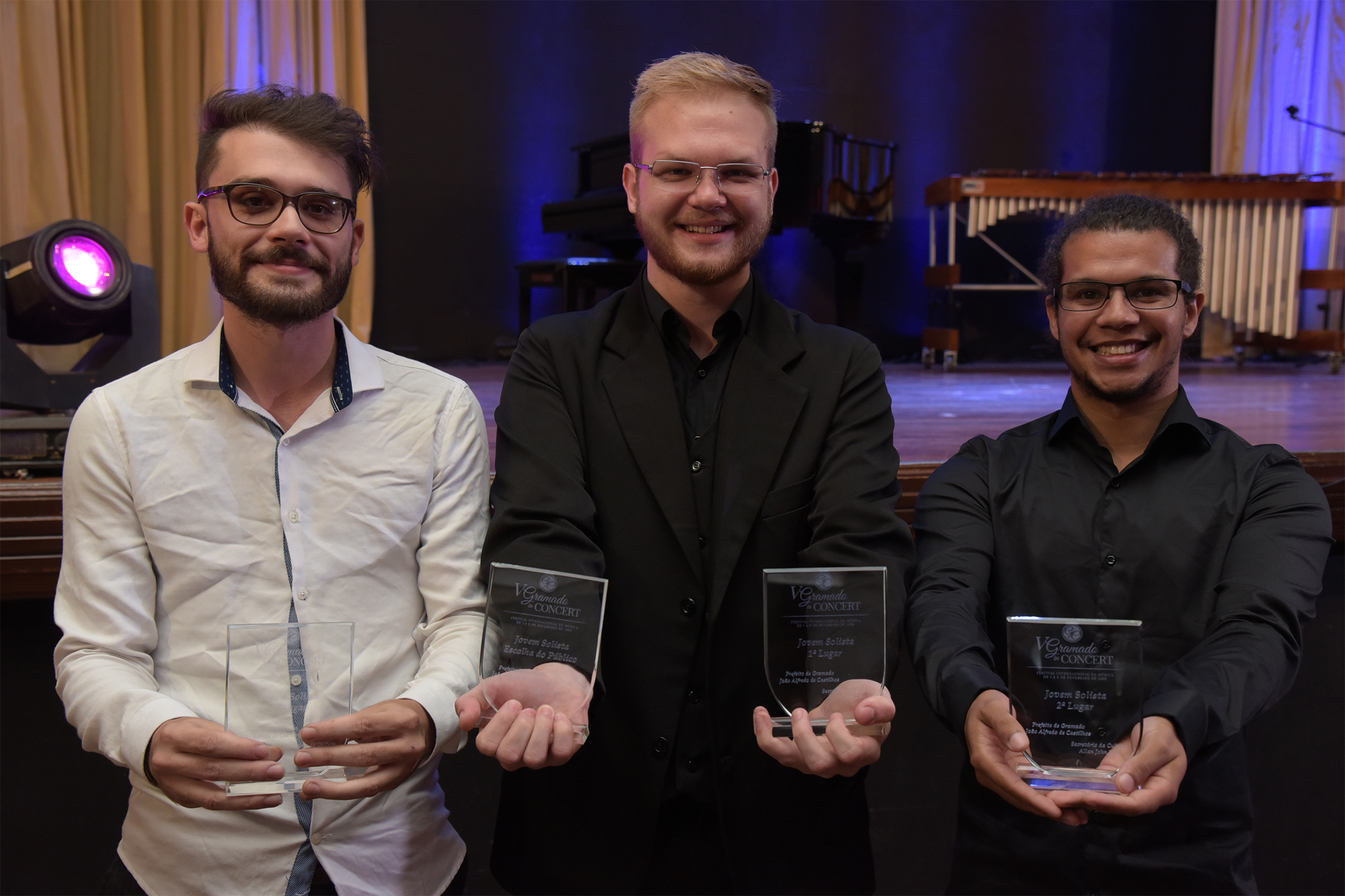 Gramado in Concert divulga os três primeiros  colocados no II Concurso Jovens Solistas