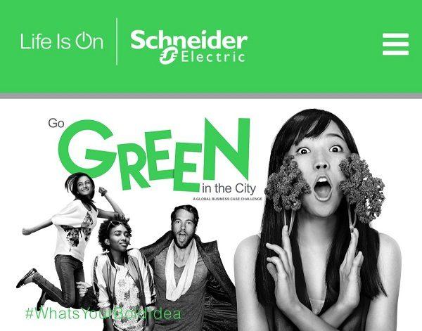Schneider Electric lança nova edição do Go Green in the City | Concurso global para estudantes universitários