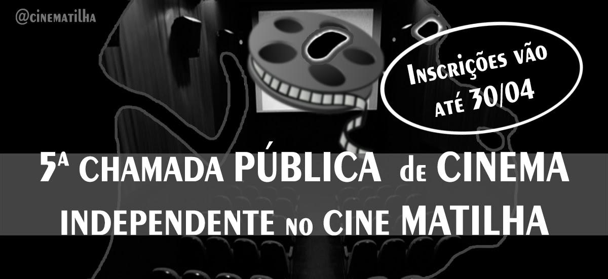 Cineastas de todo o Brasil tem até o dia 30 de abril inscrever suas obras para a 5ª edição da Chamada Pública de Cinema Independente do Cine Matilha