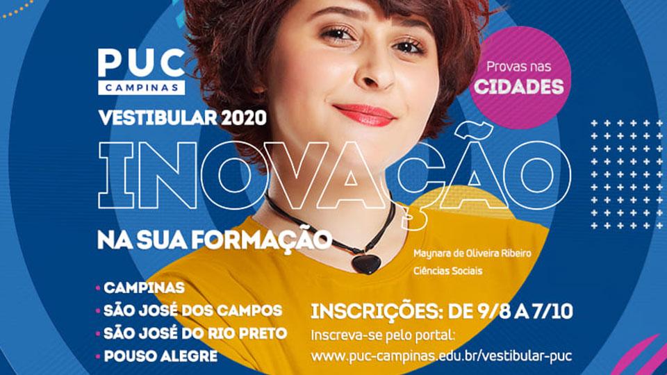 Após o dia 9 de setembro, o desconto para inscrições do Vestibular da PUC-Campinas cai para 10%