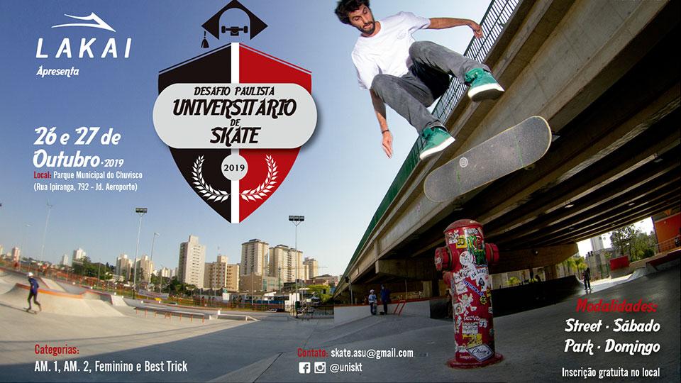 Desafio Paulista Universitário de Skate oferecerá bolsas de estudo para destaques do evento