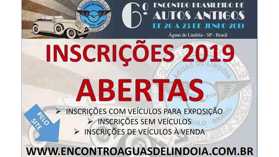6º Encontro Brasileiro de Autos Antigos de Águas de Lindóia está com inscrições abertas para exposição e venda de veículos