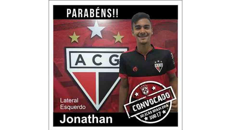 Jonathan N. Moura Cruz do Atlético Clube Goianense é convocado Seleção Brasileira na categoria Sub 17