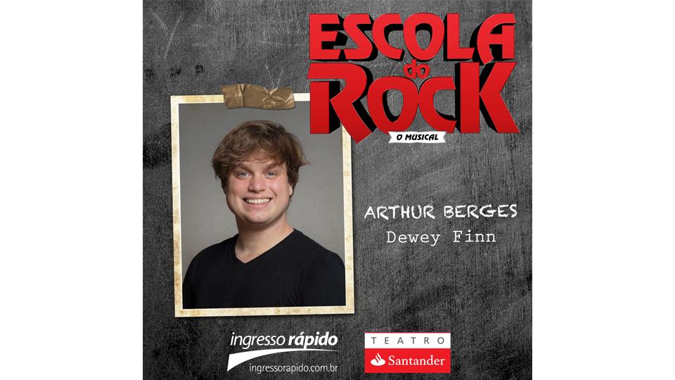 """Arthur Berges será o protagonista em """"Escola do Rock – O Musical"""""""