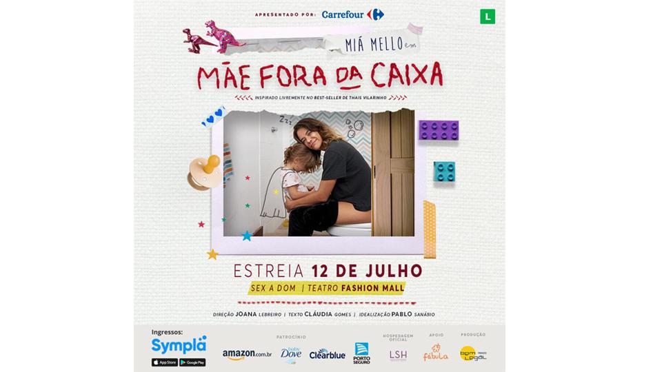 """Atriz Miá Mello estreia na proxima semana a peça """"Mãe Fora da Caixa"""""""