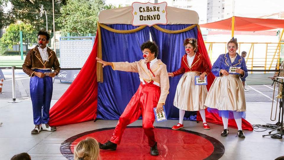 Trupe DuNavô leva palhaçaria e grande show de circo para o SESC Santo André
