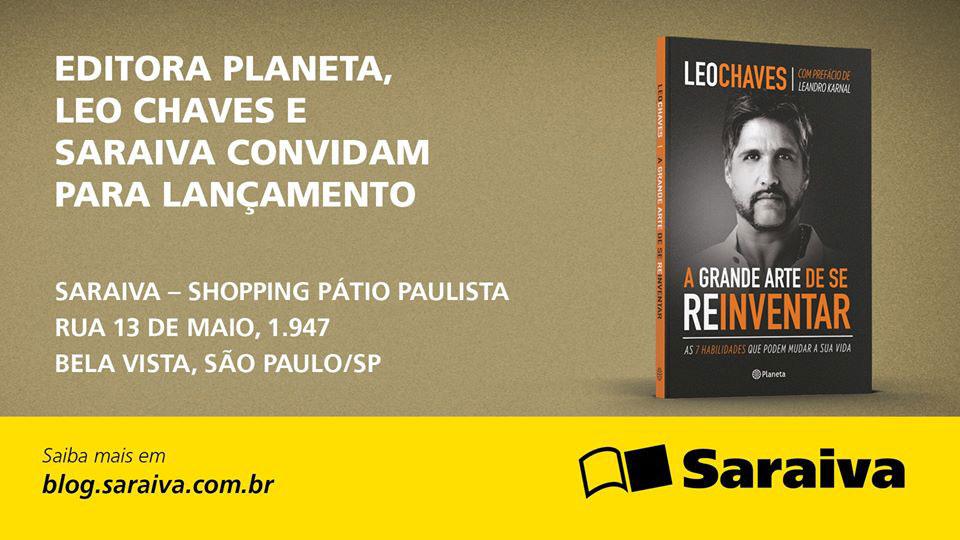 Leo Chaves lança em São Paulo livro sobre a capacidade de se redescobrir
