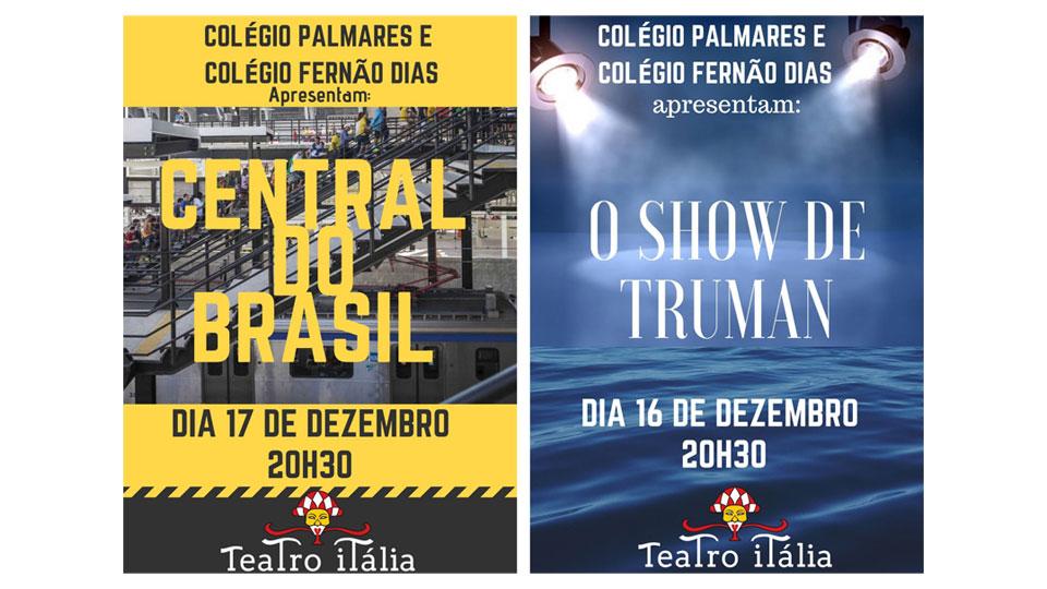 Teatro Itália recebe os espetáculos Central do Brasil e Show de Truman em dezembro