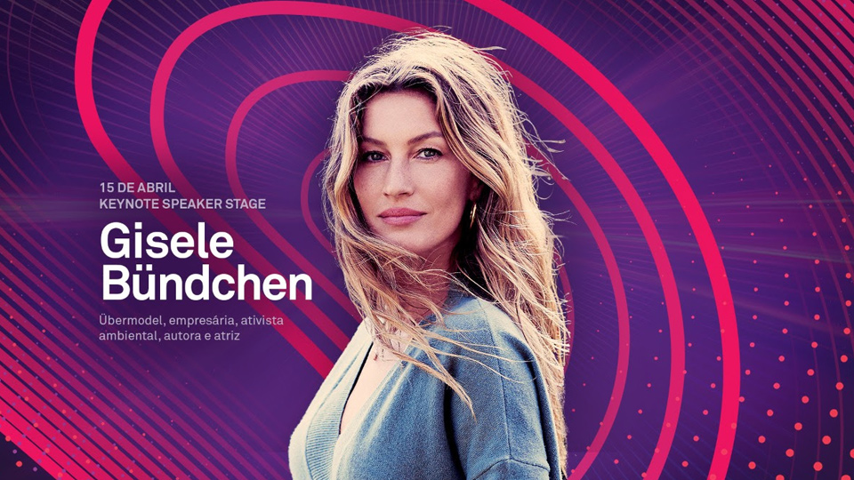 Gisele Bündchen está confirmada como a principal atração do primeiro dia do VTEX DAY
