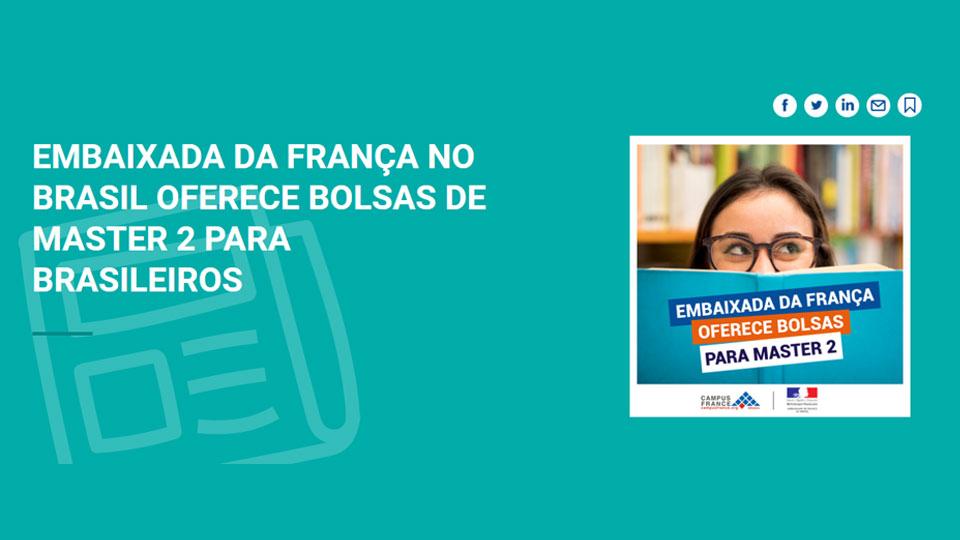 Embaixada da França oferece bolsa de estudos para pós-graduação