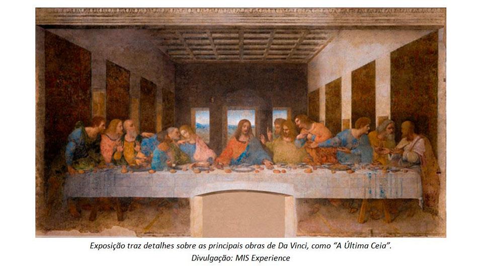 Exposição de Leonardo da Vinci no MIS Experience é opção de diversão para toda a família
