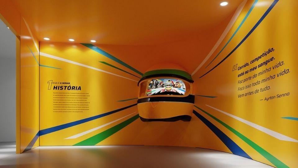 Exposição inédita e interativa sobre Ayrton Senna acontece em Shopping de SP